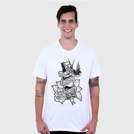 Camiseta Masculina Branca Manga Curta Jack