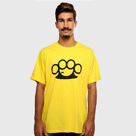 Camiseta Masculina Amarela Manga Curta Halfpipe Hardivision