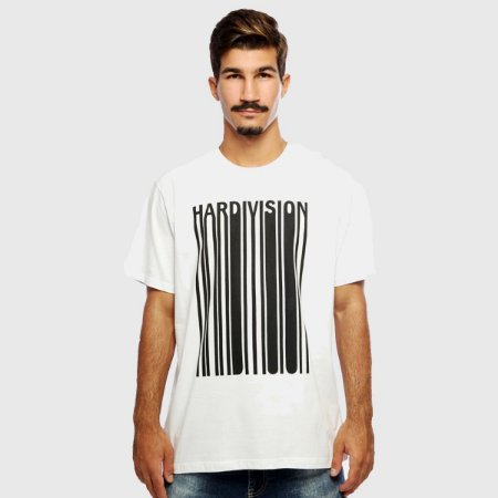 Camiseta Masculina Branca Manga Curta New Order Hardivision