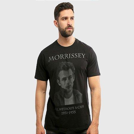 Camiseta Masculina Preta Manga Curta Moz Hardivision