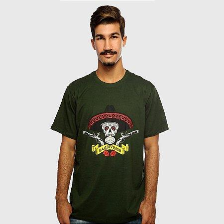 Camiseta Masculina Verde Manga Curta Hombre Hardivision