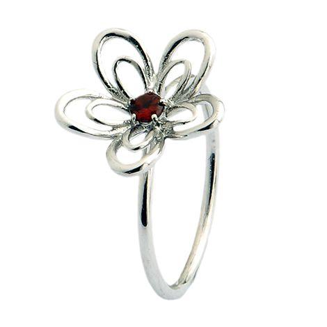 Anel flor delicada
