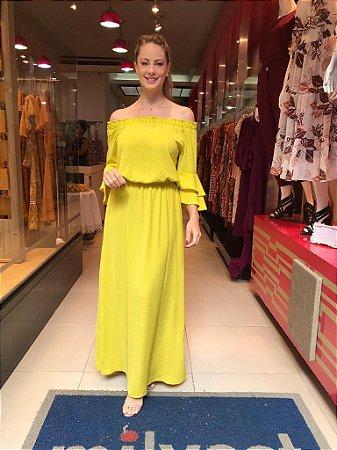 Vestido Sheila Amarelo Siciliano