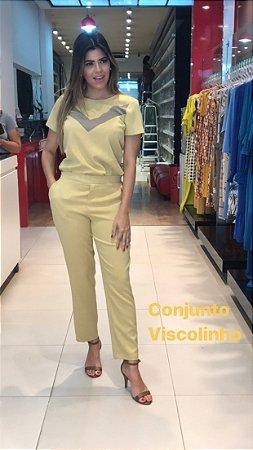 Conjunto Sônia Amarelo