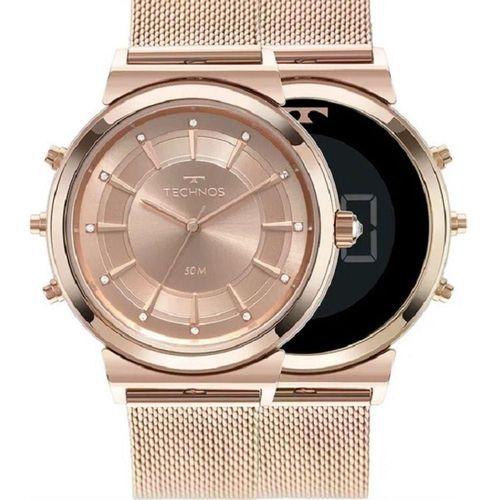 Relógio Technos Curvas Digital-Analógico Feminino Rose