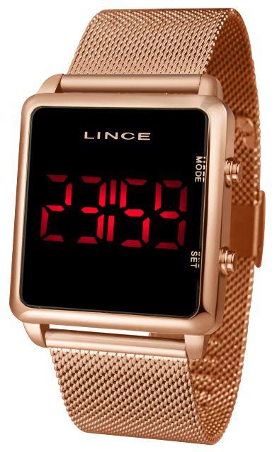 Relógio Lince Digital Feminino Rose - fundo preto