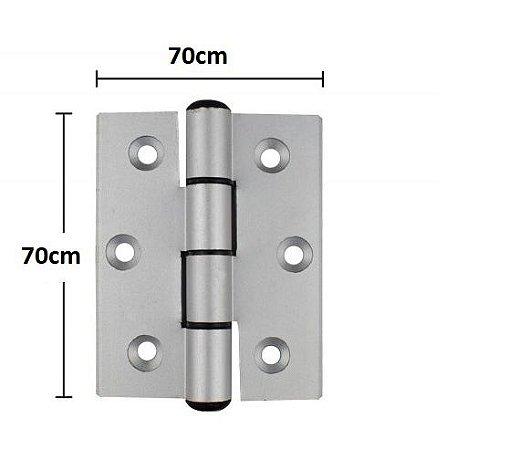 Dobradiça de Aluminio 70x70