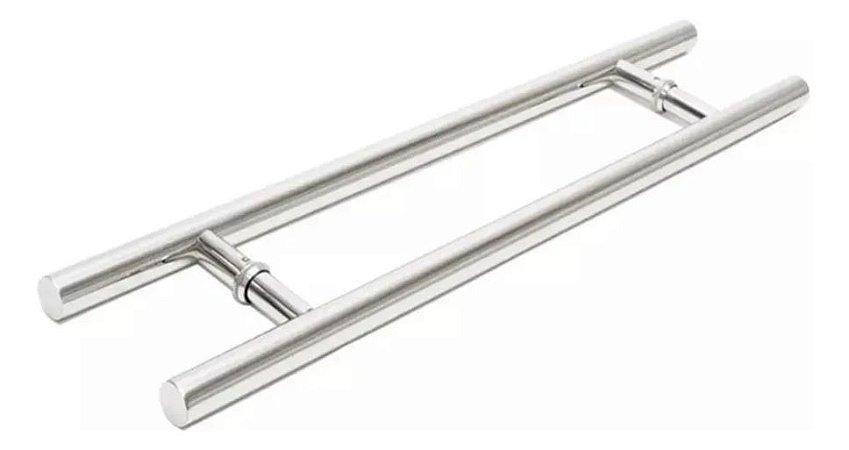 Puxador Cleaveland duplo aço inox 450mm