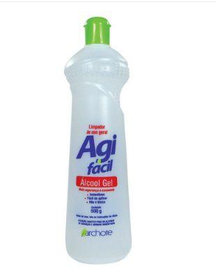 Álcool em Gel Sanitizante para Limpeza 67% 500 ml 1 UN Agifacil