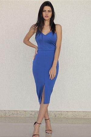 Vestido Alfaiataria Azul Naval Bana Bana