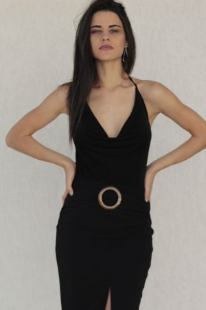 Body de Lurex Decotado Preto
