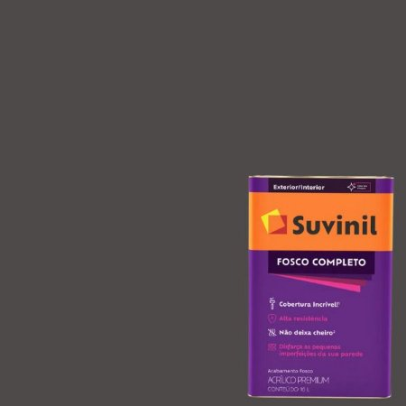 Tinta Acrilica Fosco Completo Carvão latão com 16 litros - Suvinil