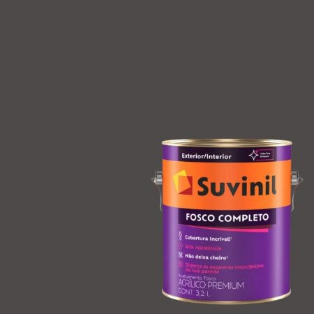 Tinta Acrilica Fosco Completo Carvão galão com 3,2 litros - Suvinil