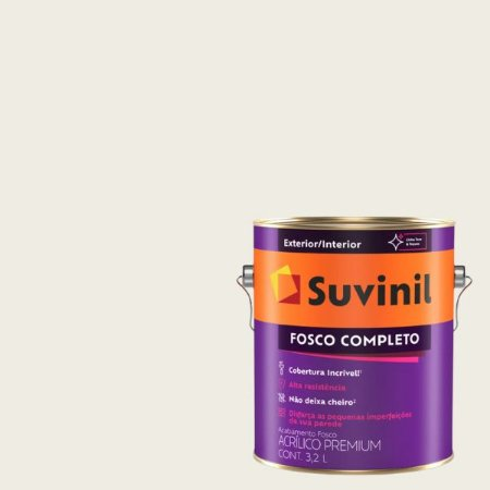 Tinta Acrilica Fosco Completo Açucar Refinado galão com 3,2 litros - Suvinil