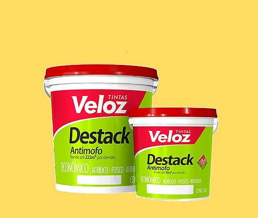 Tinta acrílico Amarelo Vanila destack Galão com 3,6 litros - veloz