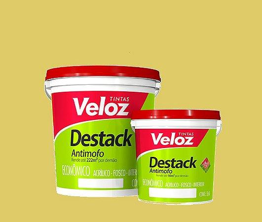 Tinta acrilico Pêssego Destack Galão com  3,6 Litros Interior - Veloz