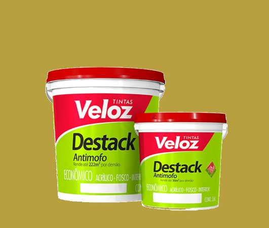 Tinta acrilico Camurça Destack Galão com  3,6 Litros Interior - Veloz