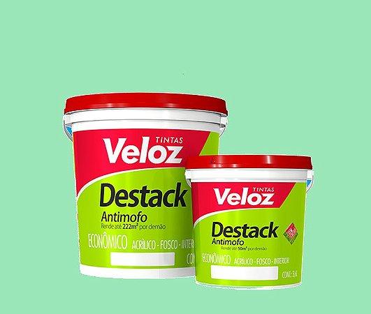 Tinta acrilico Verde Piscina Destack Galão com  3,6 Litros Interior - Veloz