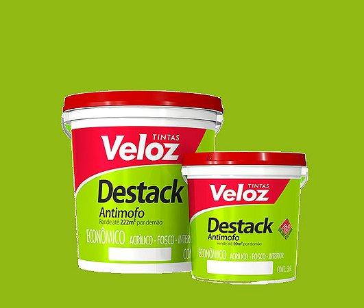 Tinta acrilico Verde Primavera Destack Galão com  3,6 Litros Interior - Veloz
