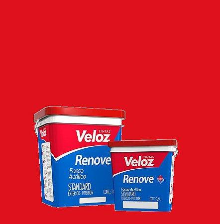 Tinta Acrílica Morango Vermelho Fosco Renove Galão com 3,6L Int/Ext - Veloz