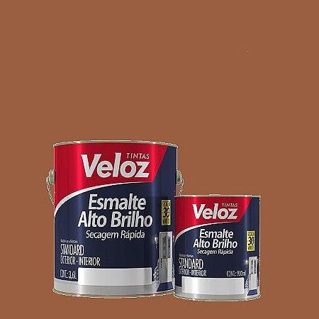 Tinta Esmalte Tabaco Alto Brilho 1/4 com 900ml - Veloz