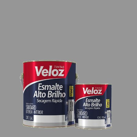 Tinta Esmalte Platina Alto Brilho Galão com 3,6 Litros - Veloz