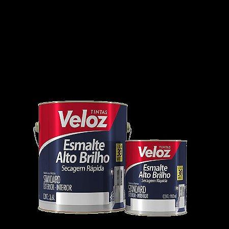 Tinta Esmalte Alto Brilho Preto Galão com 3,6 litros - Veloz