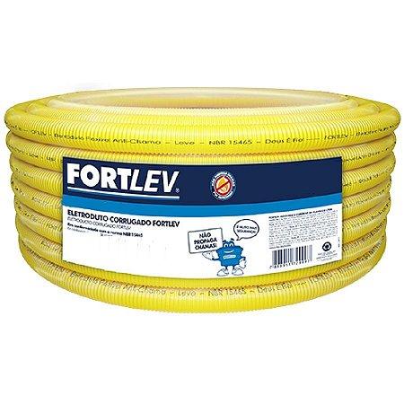 """Eletroduto 1"""" flexivel rolo com 25 metros - fortlev"""