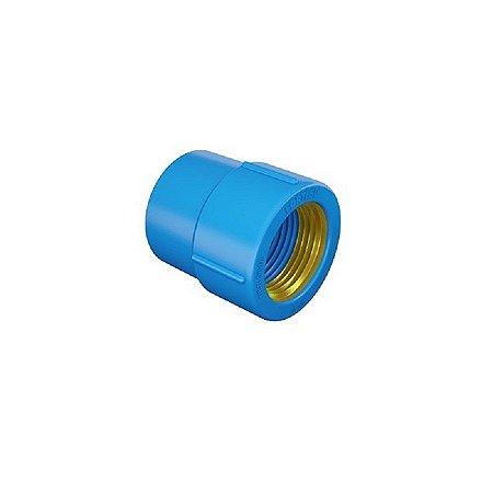 "Luva 25mm x 1/2"" azul com bucha latão - fortlev"
