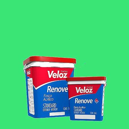 Tinta Acrílica Verde Alface Fosco Renove Galão com 3,6L Int/Ext - Veloz