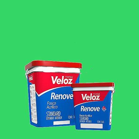 Tinta Acrílica Verde Angra Fosco Renove Galão com 3,6L Int/Ext - Veloz