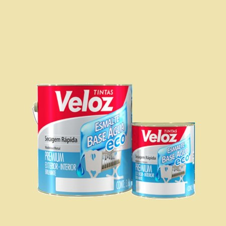 Tinta Esmalte Base D'água Eco Areia Premium - Veloz