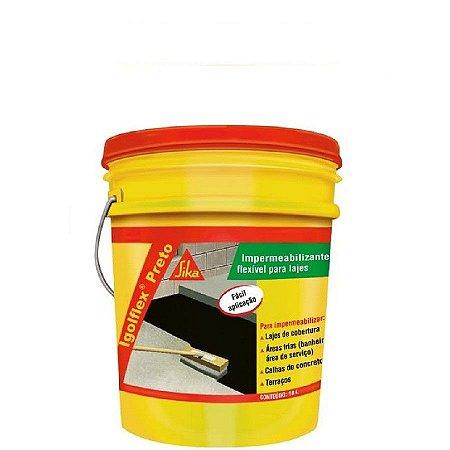 Impermeabilizante flexivel igolflex preto latão 18 litros - sika