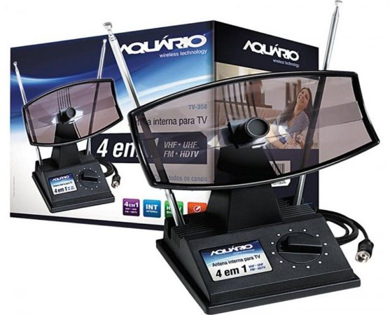 Antena interna digital 350 v/uhf - aquario