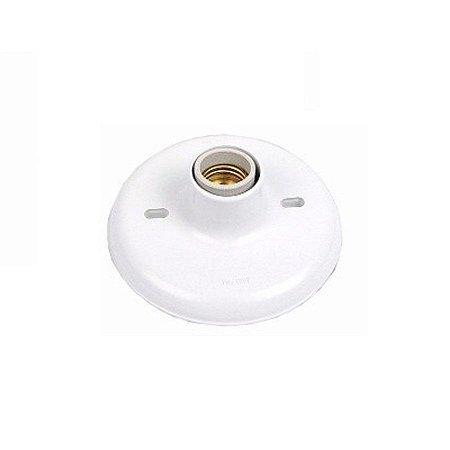 Plafon 100W com receptor branco - ilumi