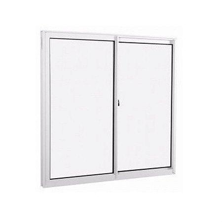 Janela de aluminio 1,00m alt. x 1,20m lar. 2 folhas com vidro liso - Quality