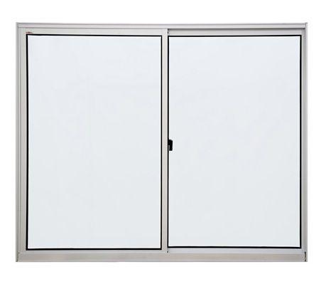Janela de alumínio 1,00m alt. X 1,50m lar. 2 folhas com vidro liso - Quality