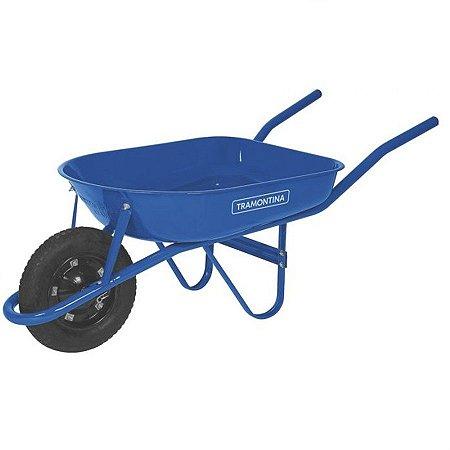 Carro de mão azul 50 litros com braço metálico - tramontina