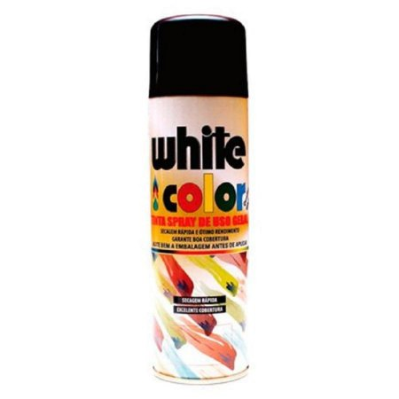 Spray preto fosco 350ml - white color