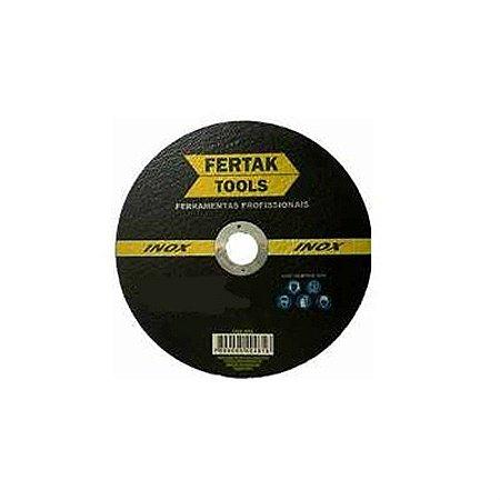 Disco de corte metalico inox 110mm x 1,2mm - fertak