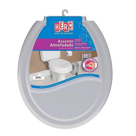 Assento sanitario almofadado cinza claro - herc