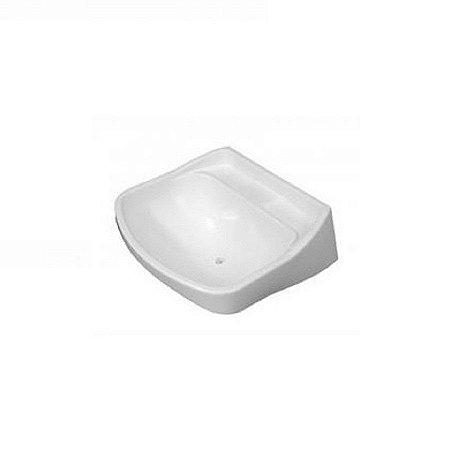 Lavatorio suspenso (34 x 25cm 03lt) plastico branco - herc