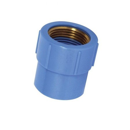 "Luva 25mm x 1/2"" azul com bucha latão - krona"
