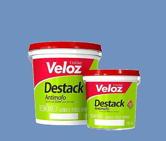 Tinta acrílico Azul Alpino Destack Galão com 3,6 litros - Veloz