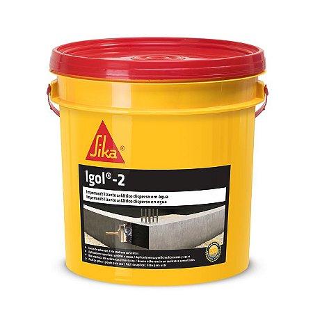Impermeabilizante asfáltico igol 2 galão com 3,6 litros - sika