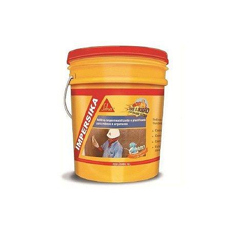 Impermeabilizante aditivo impersika latão com 18 litros - sika
