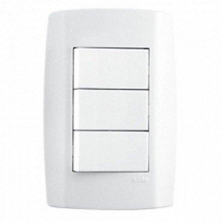 Interruptor triplo 10A slim - ilumi