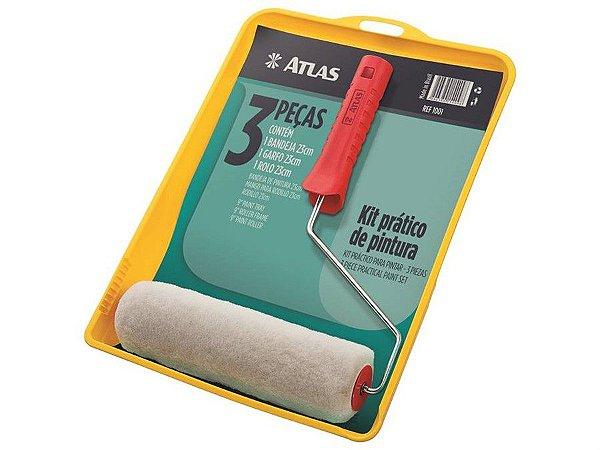 Kit 3 peças com bandeja garfo e rolo 23cm - atlas