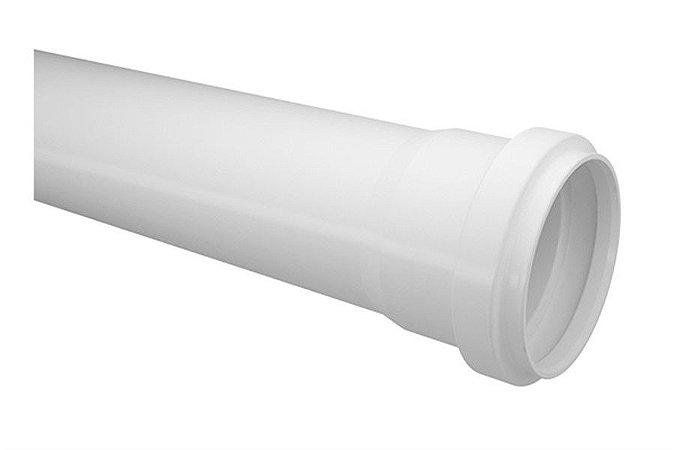 Tubo 50mm esgoto 3 metros - fortlev