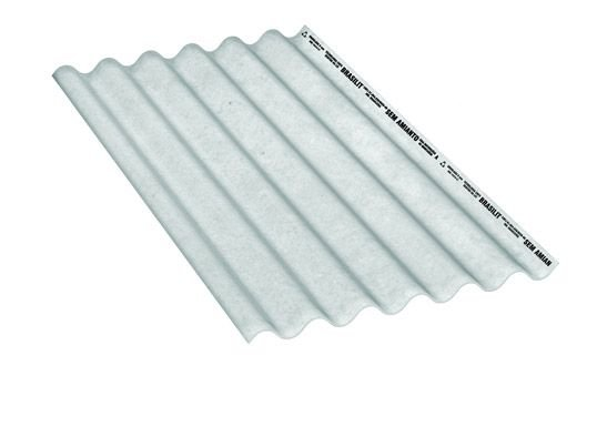 Telha ondulada 1,22 x 1,10m x 6mm - brasilit